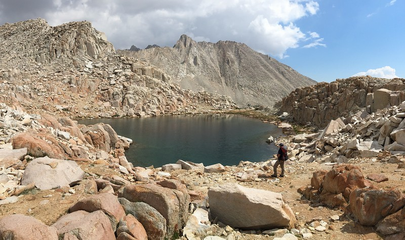 Hiker at the Highest of the Chalfant Lakes