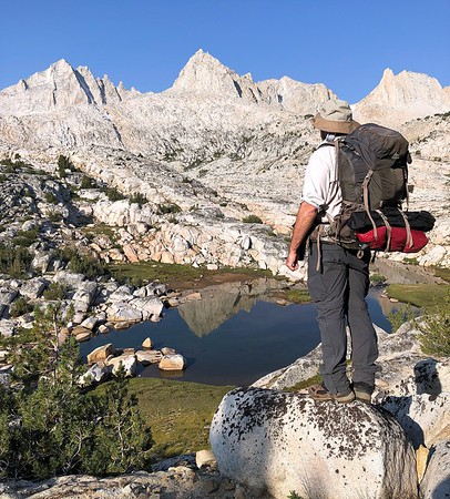 Hiker Enjoying the Granite Basin