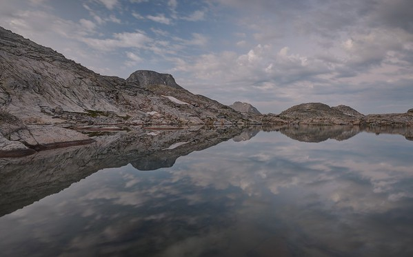 Reflections in One of the Indian Basin Lakes