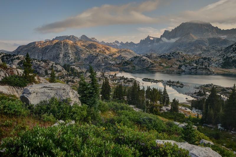 Island Lake and Fremont Peak