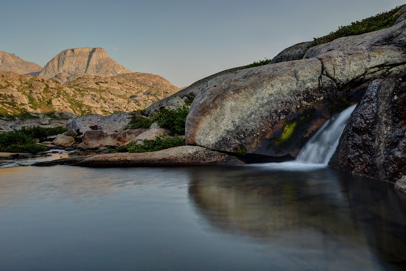 Elephant Head and a Small Cascade in the Titcomb Basin