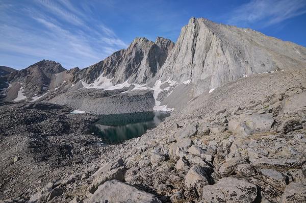 Mount Tyndall and Lake 12,182'