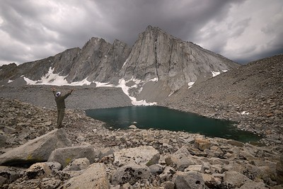 Self Portrait with Mount Tyndall and Lake 12,182'