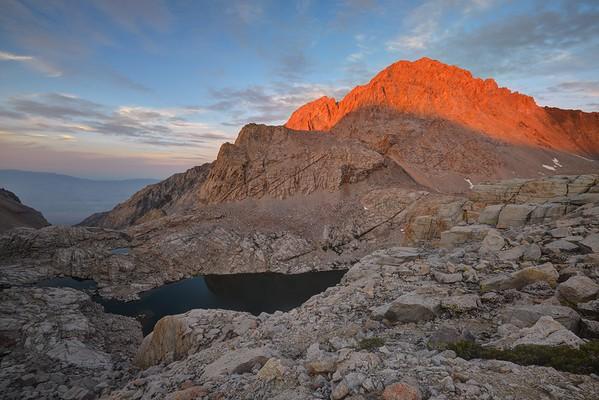 Mount Williamson (14,375') at Sunset