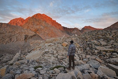 Self Portrait with Mount Williamson (14,375') at Sunset