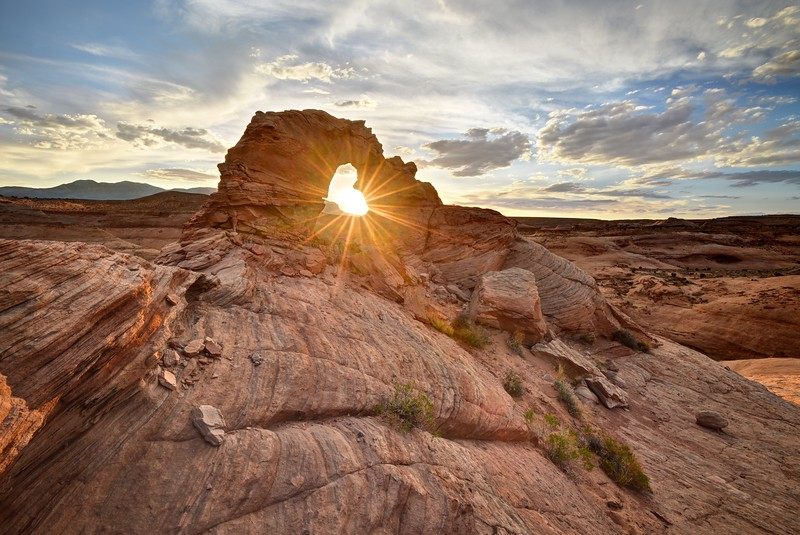 Sunset Through Arsenic Arch
