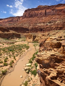 The Dirty Devil River Near Happy Canyon