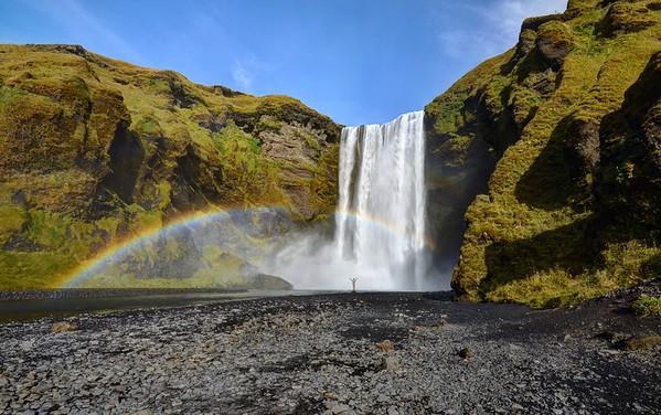 Skogafoss and Rainbow