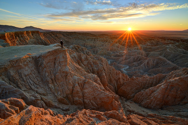Sunrise Over the Badlands