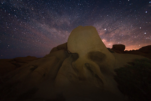 Skull Rock and the Milky Way