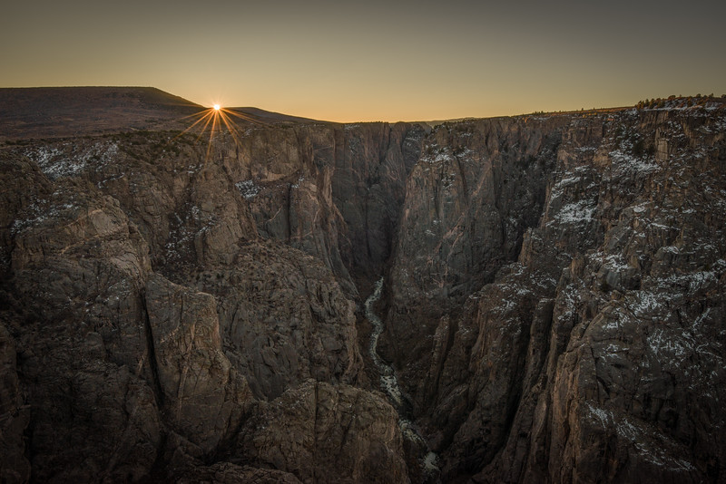 Sunrise From the Narrows Section of the North Rim