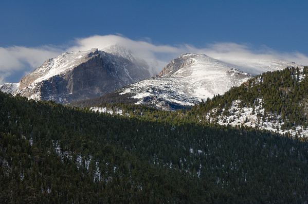 Hallet Peak and Flat Top Mountain From Near Moraine Park