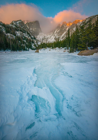 Sunrise From Icy Dream Lake