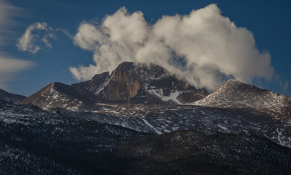 Longs Peak and Clouds