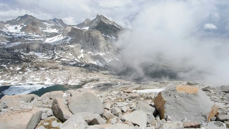 Approaching Storm While Climbing Mount Stewart