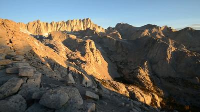 Mount Whitney and Candlelight Peak