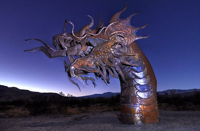 """Dragon of the Desert"" Galleta Meadows Steel Sculptures Borrego Springs, California.  Copyright © 2011 All rights reserved."