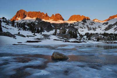 The Minarets and Frozen Lake ediza Sunrise