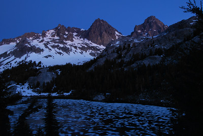 Banner Peak and Mount Ritter Lake Ediza Dusk