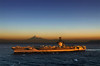 USS George Washington (CVN 73) off the coast of Japan with Fuji-san in the background. <br /> Photo by US Navy Photographer
