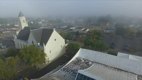 A Foggy Morning in downtown Canton