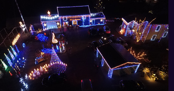 Christmas lights  2015 at Barthel's Nursery, Canton, Ohio
