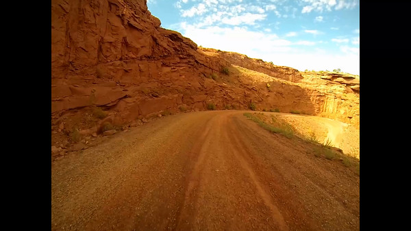 1-Driving down Mineral Bend switchback 1
