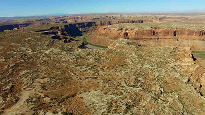 2-The Green River carves a chasm across the desert