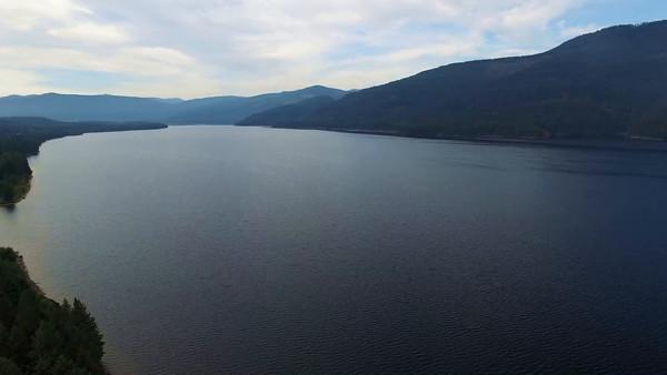 9-hese huge dams create huge reservoirs--this is Noxon Reservoir
