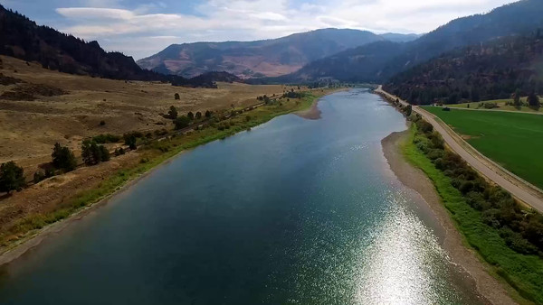 10-Blackfeet River, flowing West toward Noxon Dam