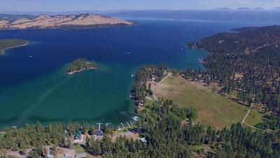 Flathead Lake and Polson, Montana