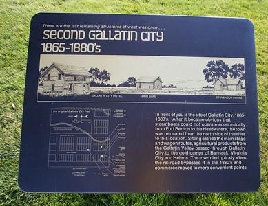 3--Second Gallatin City sign near Gallatin River-