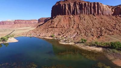 Small lake on Rt 211 at Needles-Canyonland