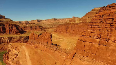 A-Drone view below Dead Horse Point-short