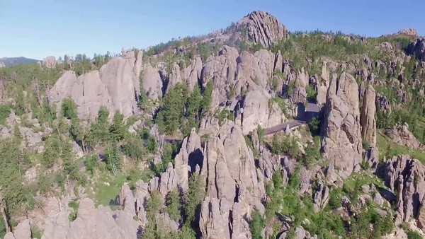 5-Looking East at the Cathedrals on the Needles Highway_