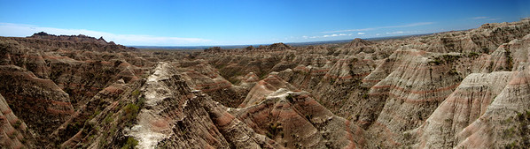 Complex topography in Badlands-South Dakota-Panorama1
