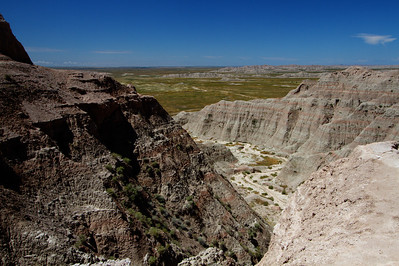 Canyon in Badlands-