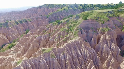 5-Soaring out over the southern Badlands