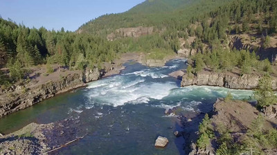 2-Looking down Kootenai Falls