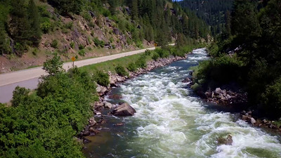 Low above the Payette rapids