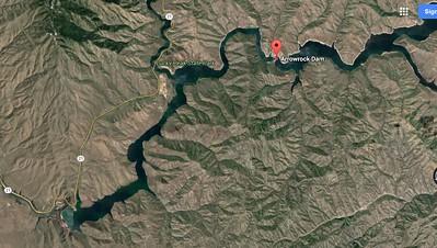 Map of Lucky Peak Lake
