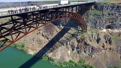 Double BASE  jump from Perrine Bridge