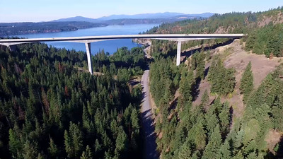 4A-Veterans Memorial Bridge-Lake Couer d'Alene in distance