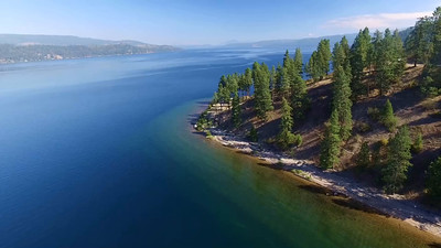 5-Flying off a high cliff over Lake Coeur d'Alene