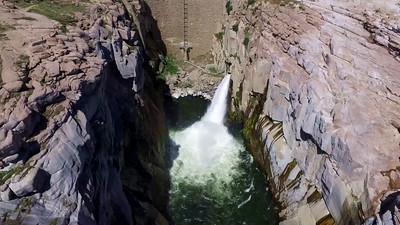 1-Flume and lake at Pathfinder Dam