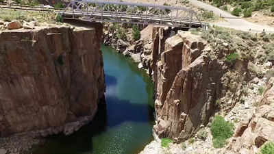 6-Bridge and River in Fremont Canyon