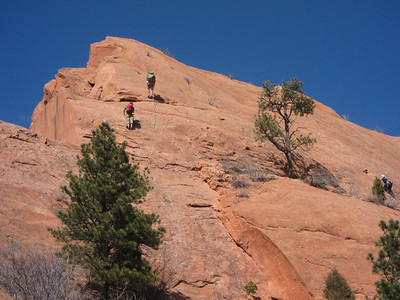 There are lots of bolted routes in Red Rock Cyn.