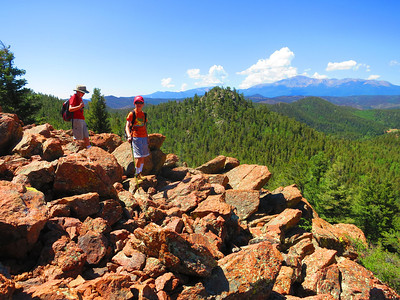 Ready to start down - then heading over yonder to Pikes Peak?