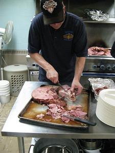 The ham came spiral cut around the bone.