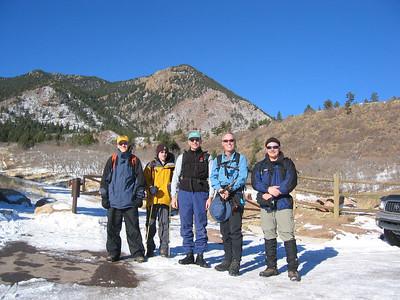 L-R: Frederick Nace, Alex Keen, Steve Sibbald, Bill Oliver & Rick McMorran.  Blodgett Pk behind us.